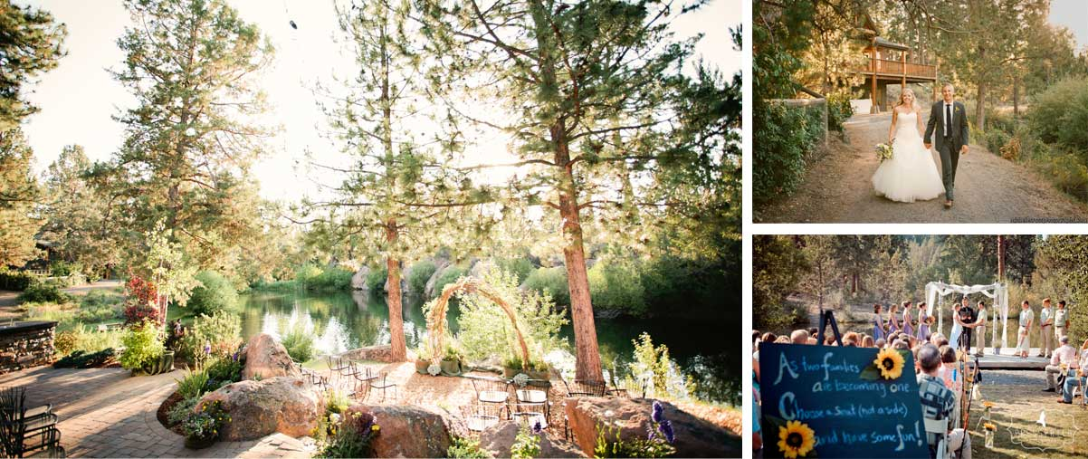 rock springs wedding venue collage